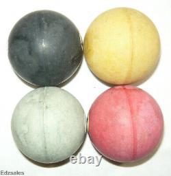 Vintage Antique Complete Bakelite Pool Ball Set 2 1/8 Diameter