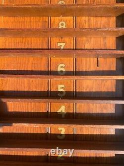 Vintage Antique Victorian Pool or Billiard Snooker Ball Rack English Oak