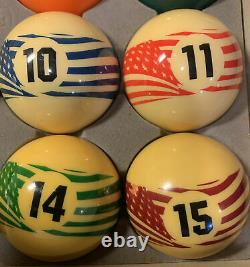 Vintage Aramith Pool Billiard Balls Special USA Set Made In 2000