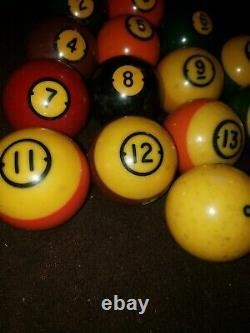 Vintage BRUNSWICK CENTENNIAL Pool Balls Missing #1