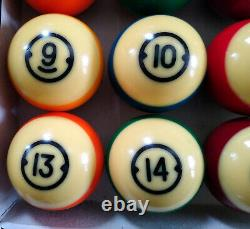 Vintage Brunswick Centennial 2 1/4 Pool Billiard Pocket Balls Set