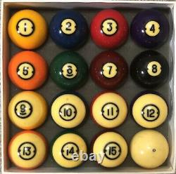 Vintage Brunswick Centennial Gold Crown Pocket Balls Pool Billiards