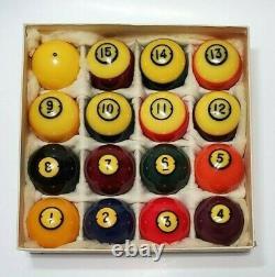Vintage Brunswick Centennial Gold Crown Pocket Balls Pool Table Billiards