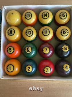 Vintage Brunswick Centennial Pocket Pool Balls